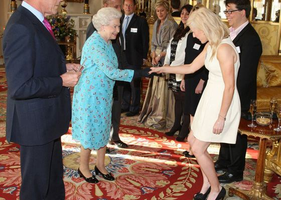 Ellie Golding at the reception at the Queen Elizabeth II in Buckingham Palace