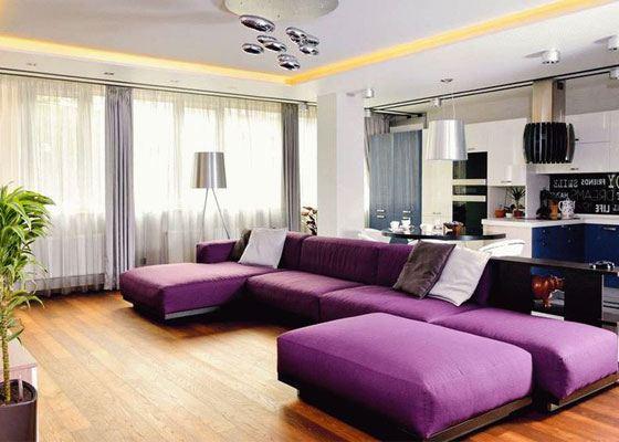 Мебель в благородных пурпурных оттенках