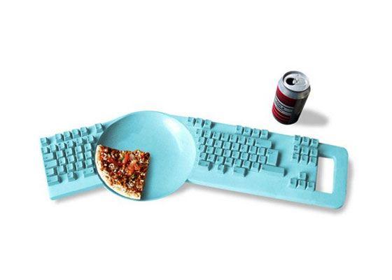 Клавиатура Keyboard Plate для любителей потрапезничать за компьютером
