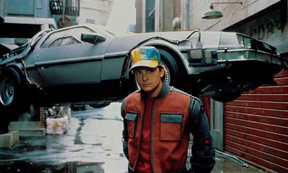 Michael J. Fox finds the car from Back to the Future very uncomfortable.
