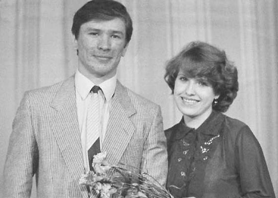 Vyacheslav Bykov and his wife Nadezhda