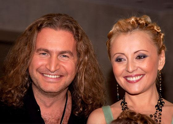 In the photo: Leonid Agutin and Angelica Varum