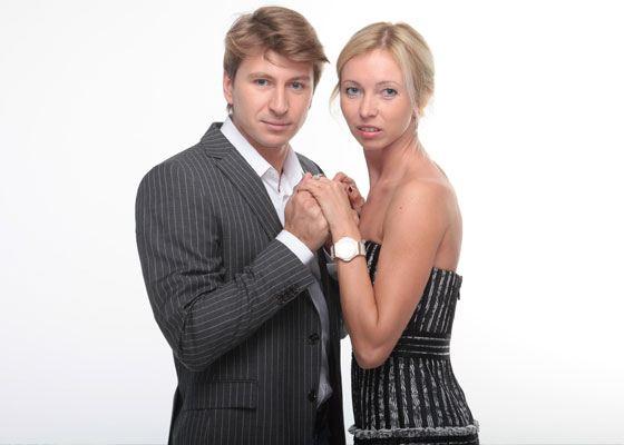 In the photo: Tatiana Totmianina and Alexei Yagudin