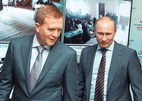 Дмитрий Шумков и Владимир Путин