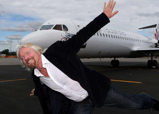 Ричард бренсон самолет virgin