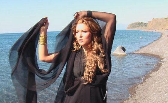 Irina on the set of the video