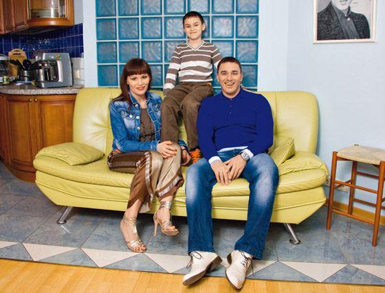 Кирилл с семьей