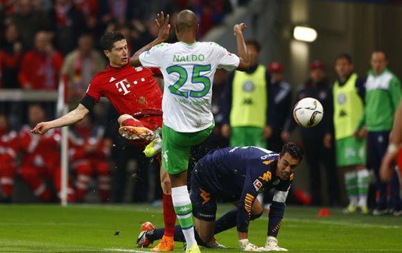 Игрок «Баварии» Левандовски забил пять голов за девять минут