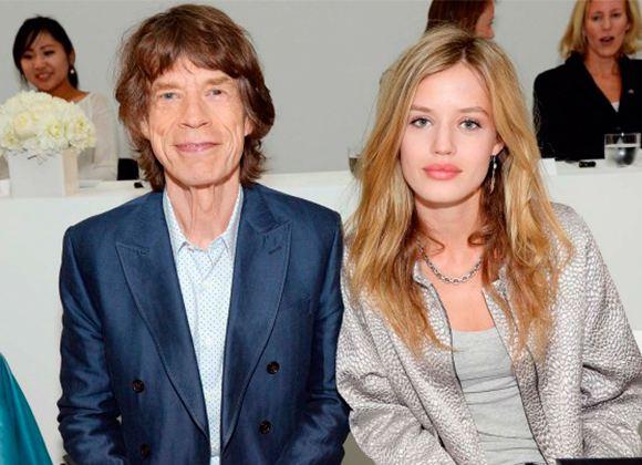 На фото: Мик Джаггер со своей дочерью