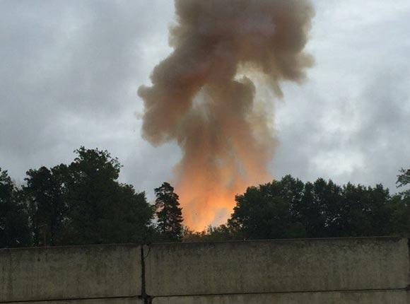 Мощный взрыв прогремел на Тамбовском пороховом заводе