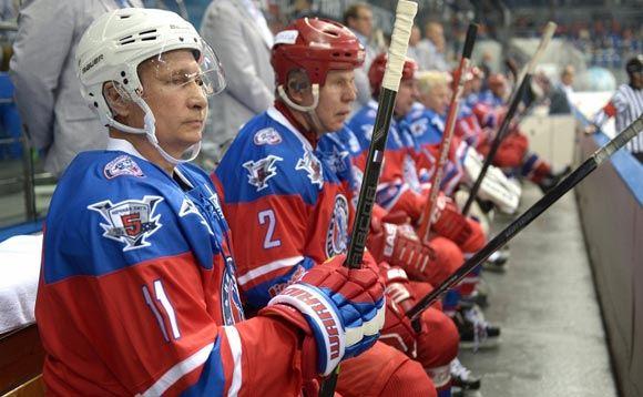 Путин в день рождения забил семь шайб команде Тимченко и Ротенбергов