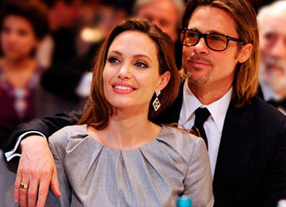 На фото: Анджелина Джоли и Бред Питт