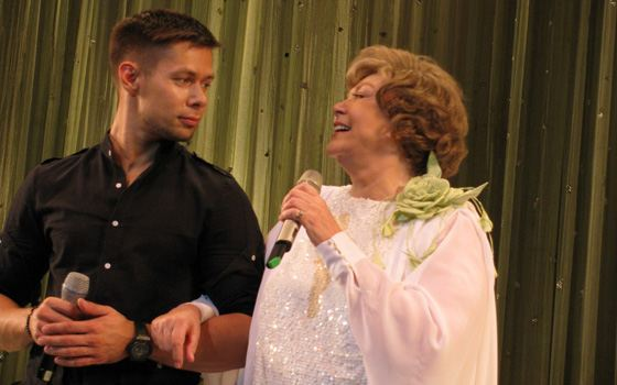 Grandson of Edita Piekha with her grandmother