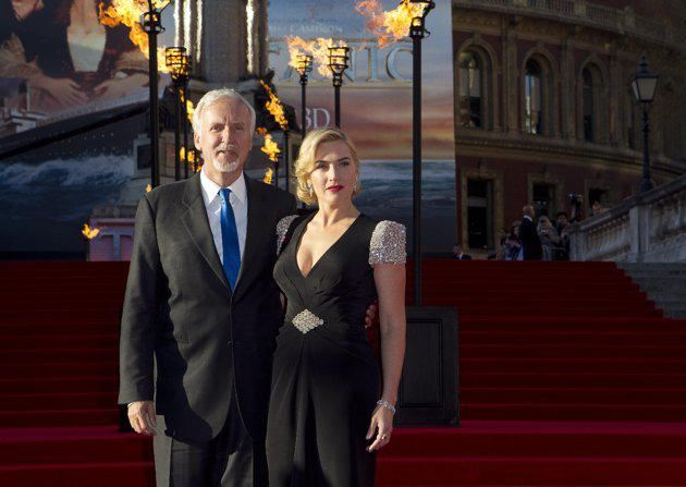 Pictured: Kate Winslet and James Cameron