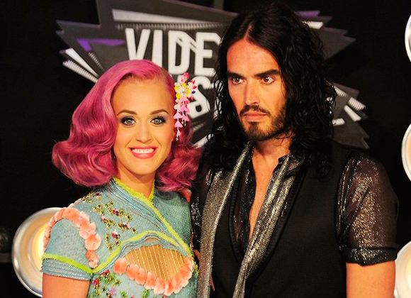 Pictured: Katy Perry and Russell Brand