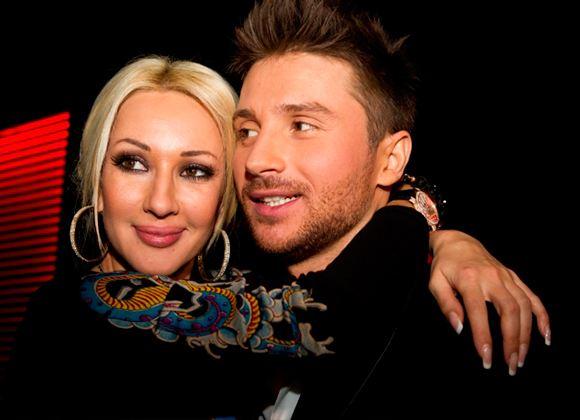 In the photo: Lera Kudryavtseva and Sergey Lazarev