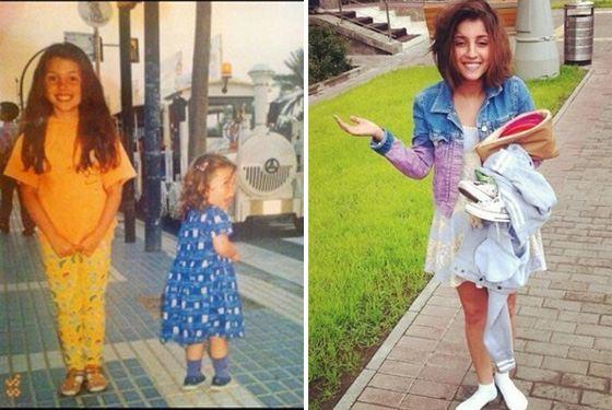 Christina C in childhood