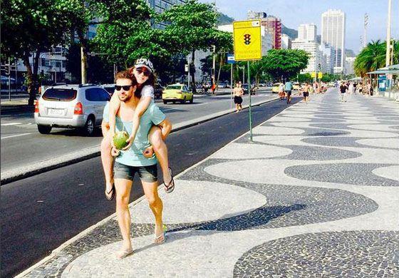 Лиза и Максим в Бразилии