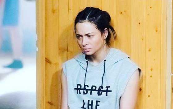 Настасья Самбурская много времени проводит в спортивном зале