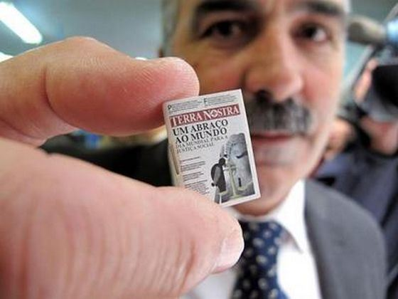 The smallest newspaper in the world is Terra Nostra