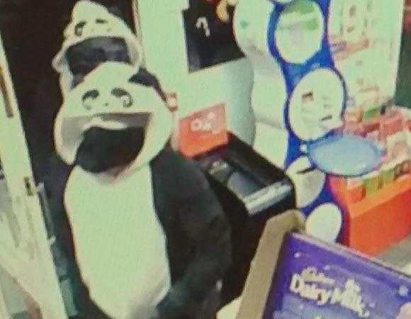 В Великобритании преступники в костюмах панд ограбили киоск
