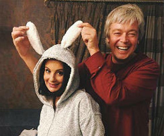 Александр подарил жене костюм зайчика