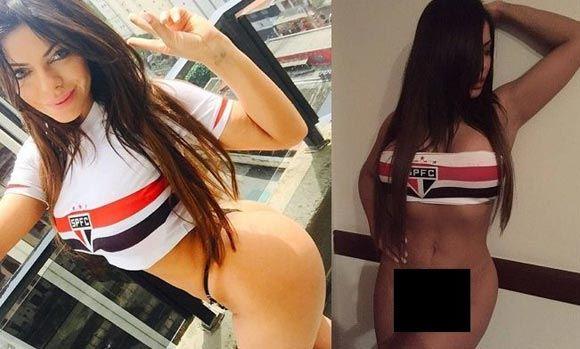 Бразильская модель разделась в честь победы любимого клуба «Сан-Паулу»