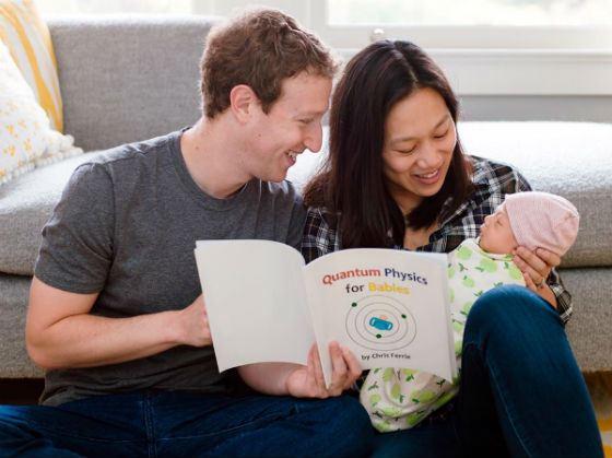 Присцилла Чан и Марк Цукерберг с дочкой