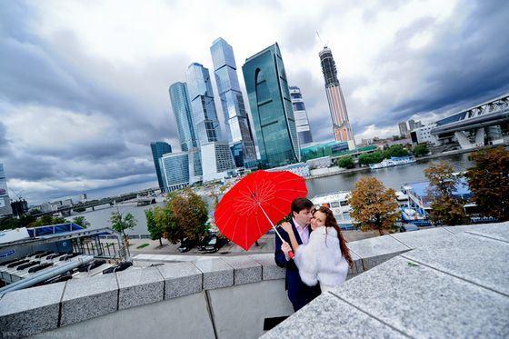 Зонт для влюбленных в форме сердца