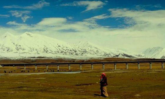 Самая высокогорная железная дорога находится в Китае