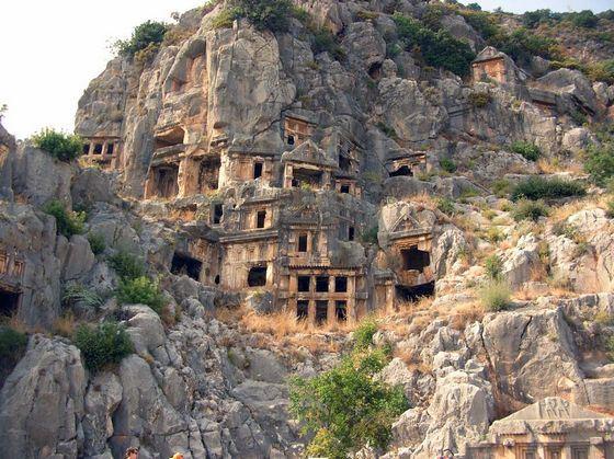 Развалины города Фаселис в Кемере