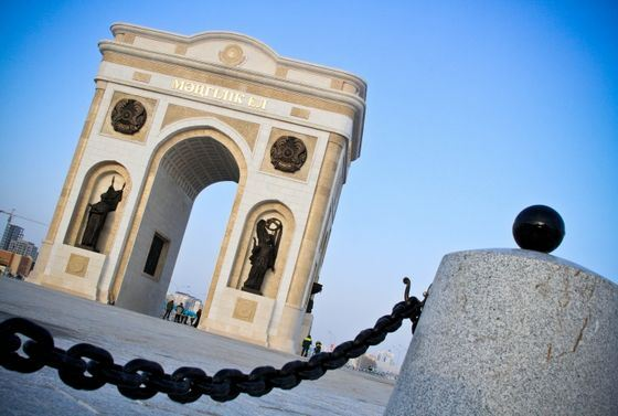 Новая триумфальная арка в Астане