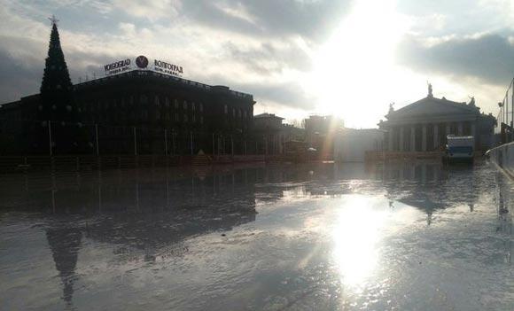 Волгоград остался без центрального катка из-за потепления