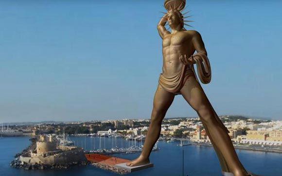 В Греции установят 135-метровую статую Колосса Родосского
