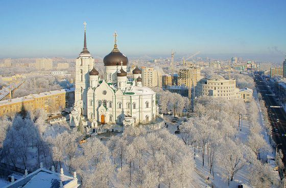 Blagoveshchensk cathedral in Voronezh - one of the largest temples in Russia