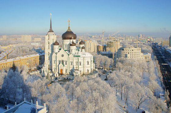 Благовещенский кафедральный собор в Воронеже - один из крупнейших храмов в России