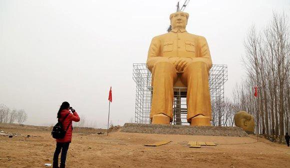 Позолоченный Мао простоял в китайской провинции Хэнань всего три дня