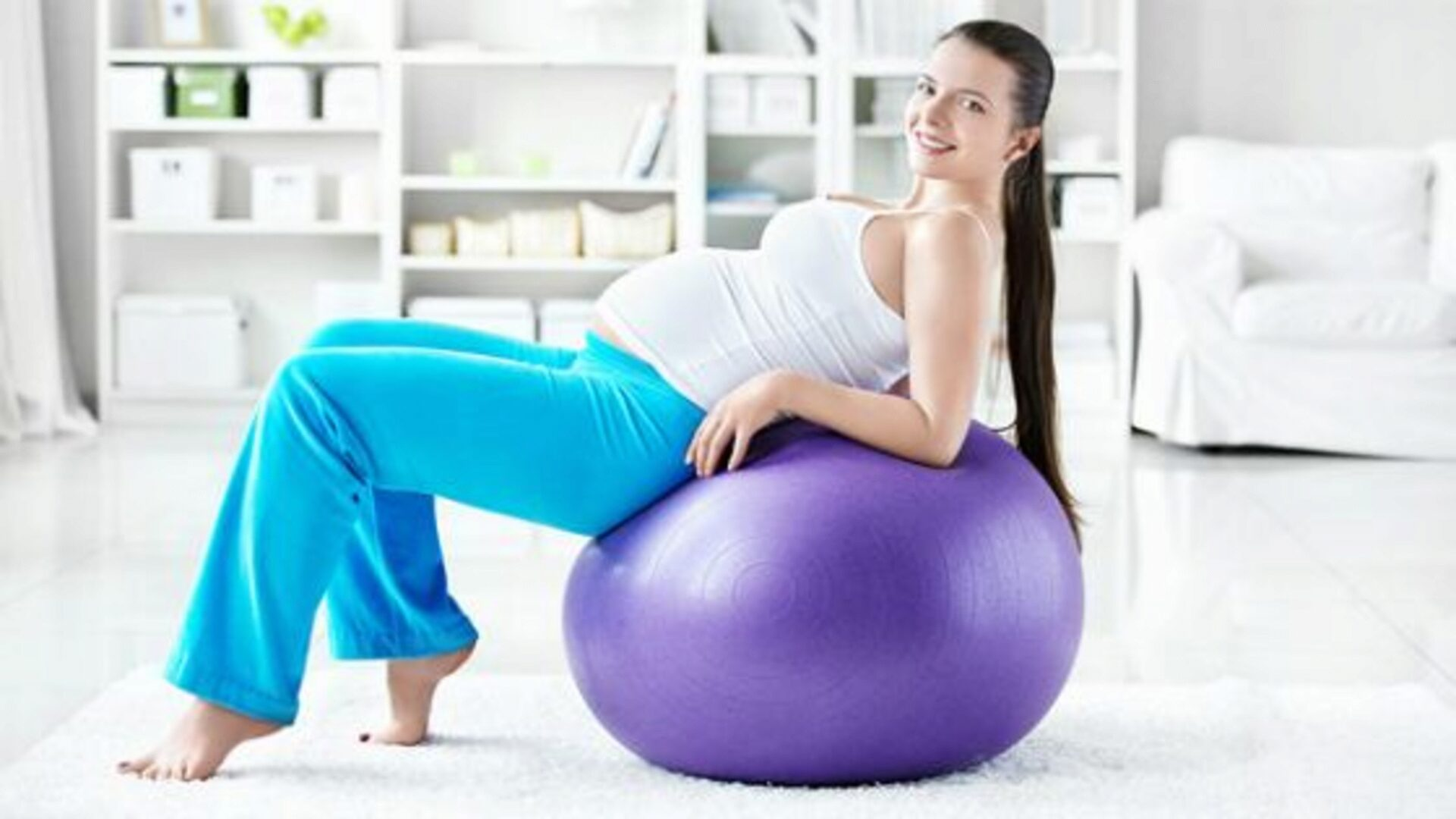 Fitball useful future mothers, and then their kids
