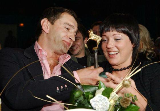 Константин Хабенский с первой женой