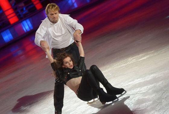 Катерина Шпица и Максим Ставиский на Шоу «Ледниковый период»