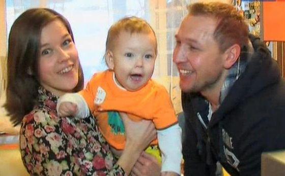 Катерина Шпица, ее муж Константин Адаев и сын Герман