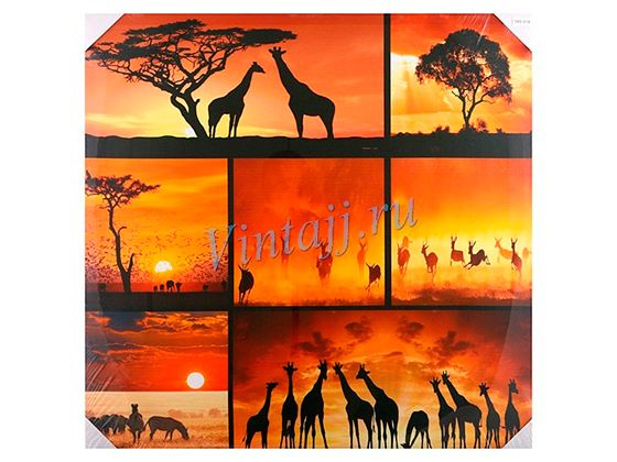 Большой популярностью пользуются панно в африканском стиле