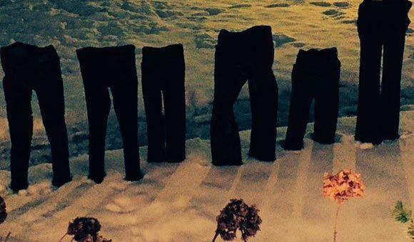 Американцы делятся фотографиями «замороженных штанов»