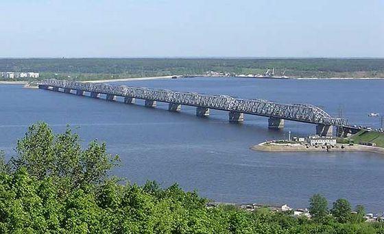 Знаменитый мост в Ульяновске