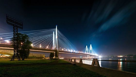 Большой Обуховский - самый длинный мост в Санкт-Петербурге