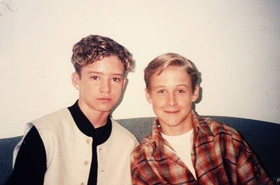 Ryan Gosling and Justin Timberlake in youth