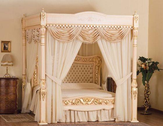 Самая дорогая кровать в мире украшена золотом и драгоценными камнями