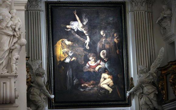 Цифровая копия картины «Рождество со святым Франциском и святым Лаврентием»