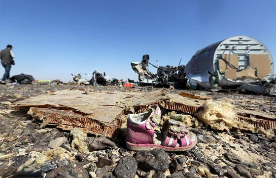 Последствия взрыва самолета Когалымавиа в небе Египта