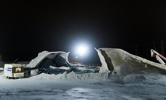 В Карелии обрушился ледяной мост по проекту Леонардо да Винчи